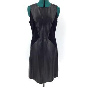 INC Vegan Leather Sleeveless Black Dress, 10